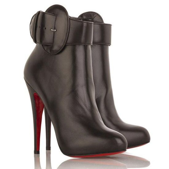 Chocolate Christian Louboutin Trottinette 140mm Leather. Bottines ...