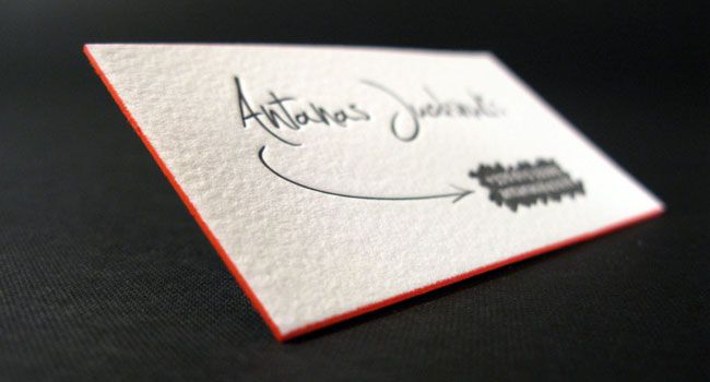 Personal letterpress name cards carto personal letterpress name cards elegante press design letterpress printing reheart Gallery