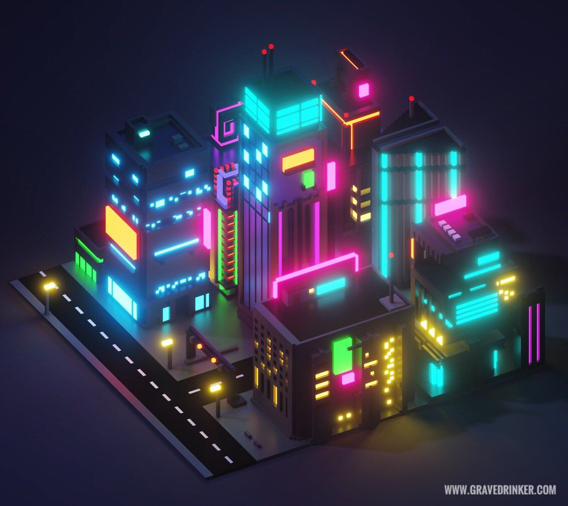 Cyberpunk City Block Cyberpunk City Low Poly Cyberpunk Games
