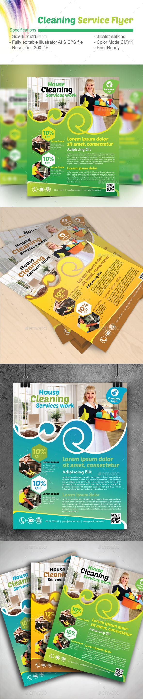 cleaning services flyers samples