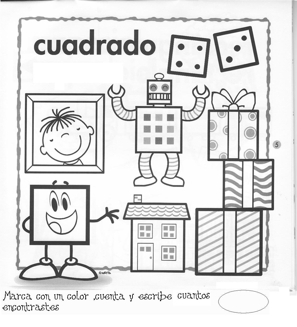 Fichas figuras geometricas | FICHAS PARA PINTAR | DIBUJOS PARA ...