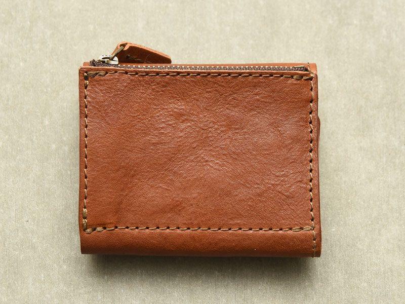 b6f0146df53d 小銭・お札・カードがコンパクトに収納できる小型のレザーミニ財布「革鞄 ...