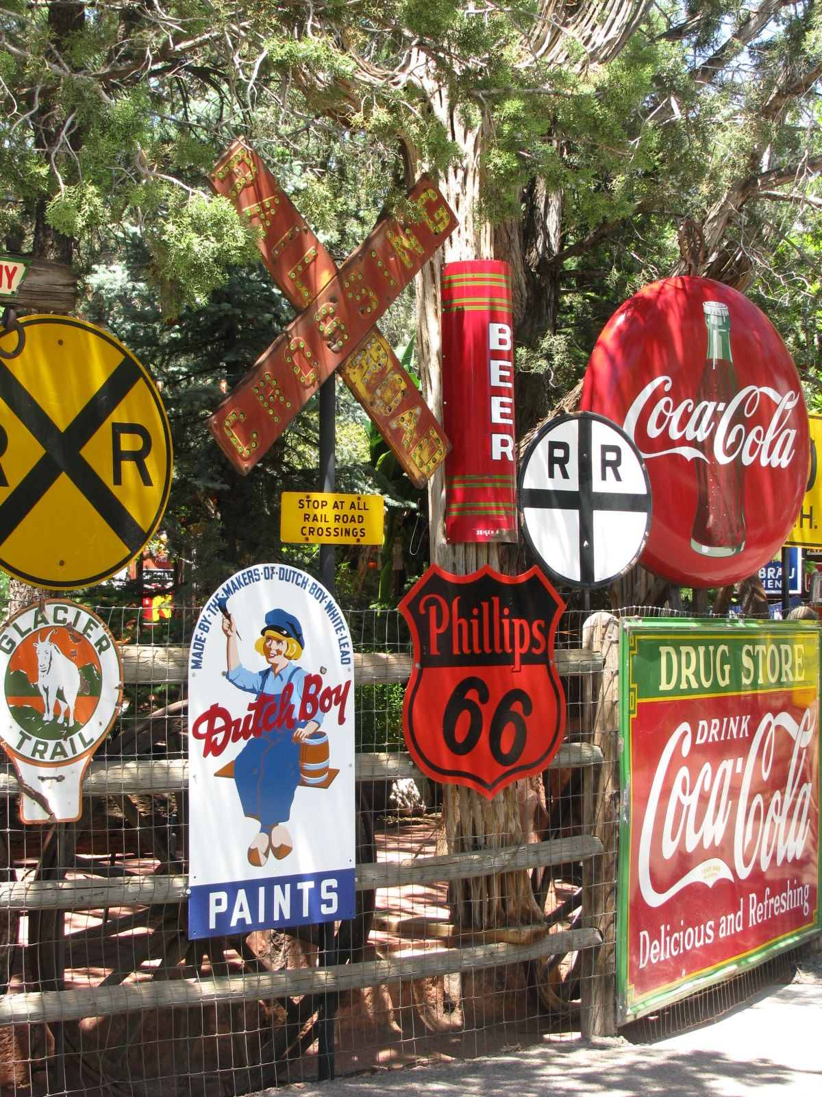 Fun old signs in sedona az from one of my favorite shops