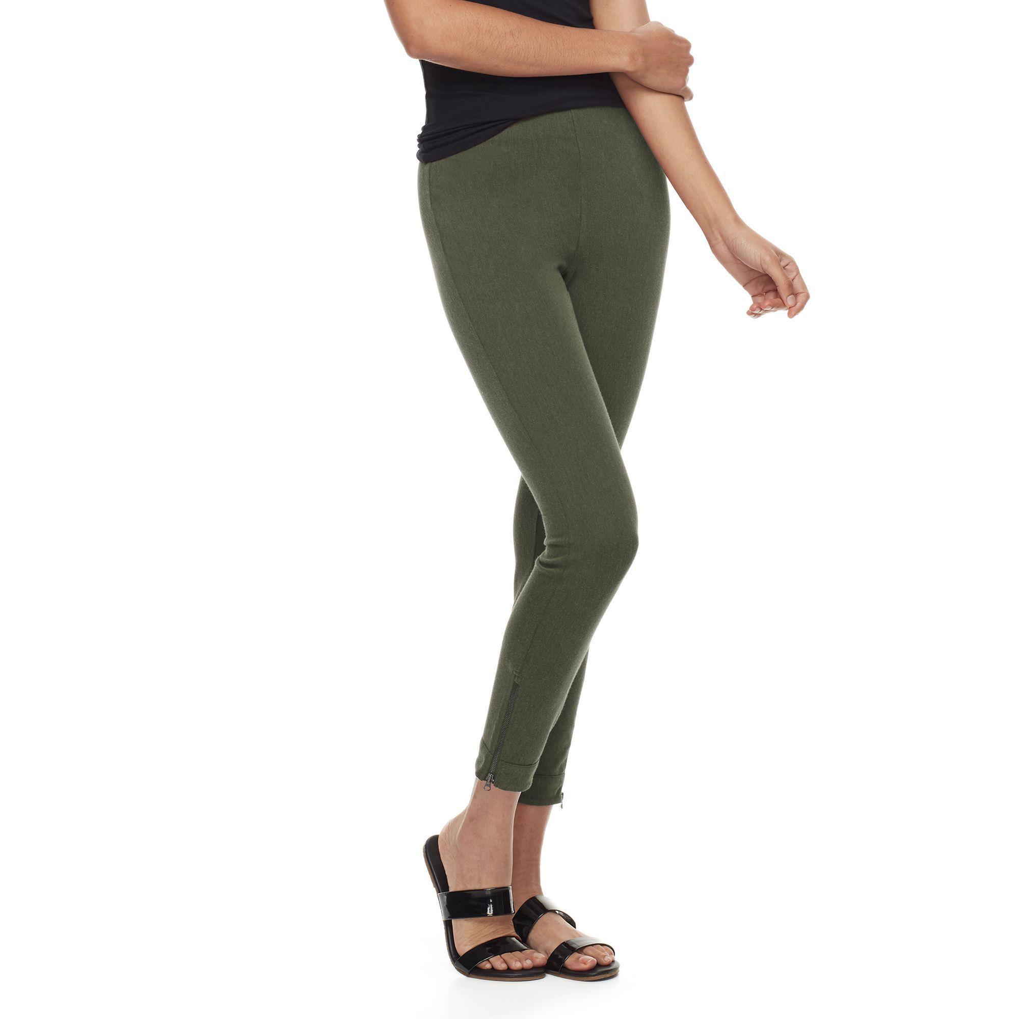 0707d93906eeb Utopia by HUE Felted Denim Skimmer Leggings, Women's, Size: Medium, Green  Oth