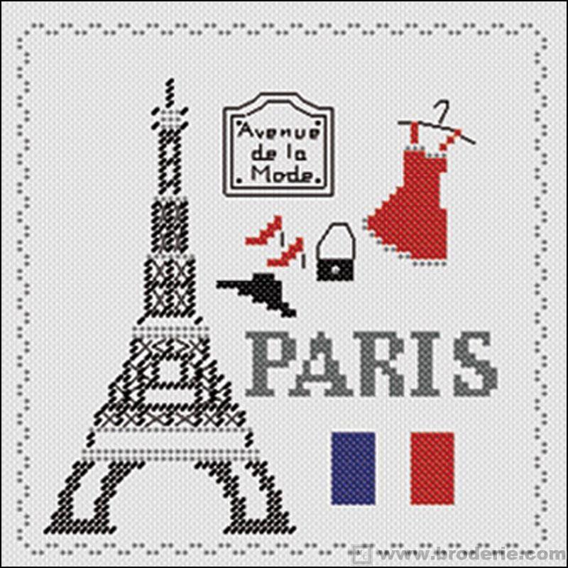 Kit point de croix paris marie coeur paris point Maison du canevas point de croix