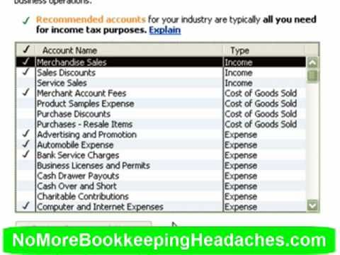 Setting Up The Quickbooks Chart Of Accounts Chart Of Accounts Accounting Quickbooks