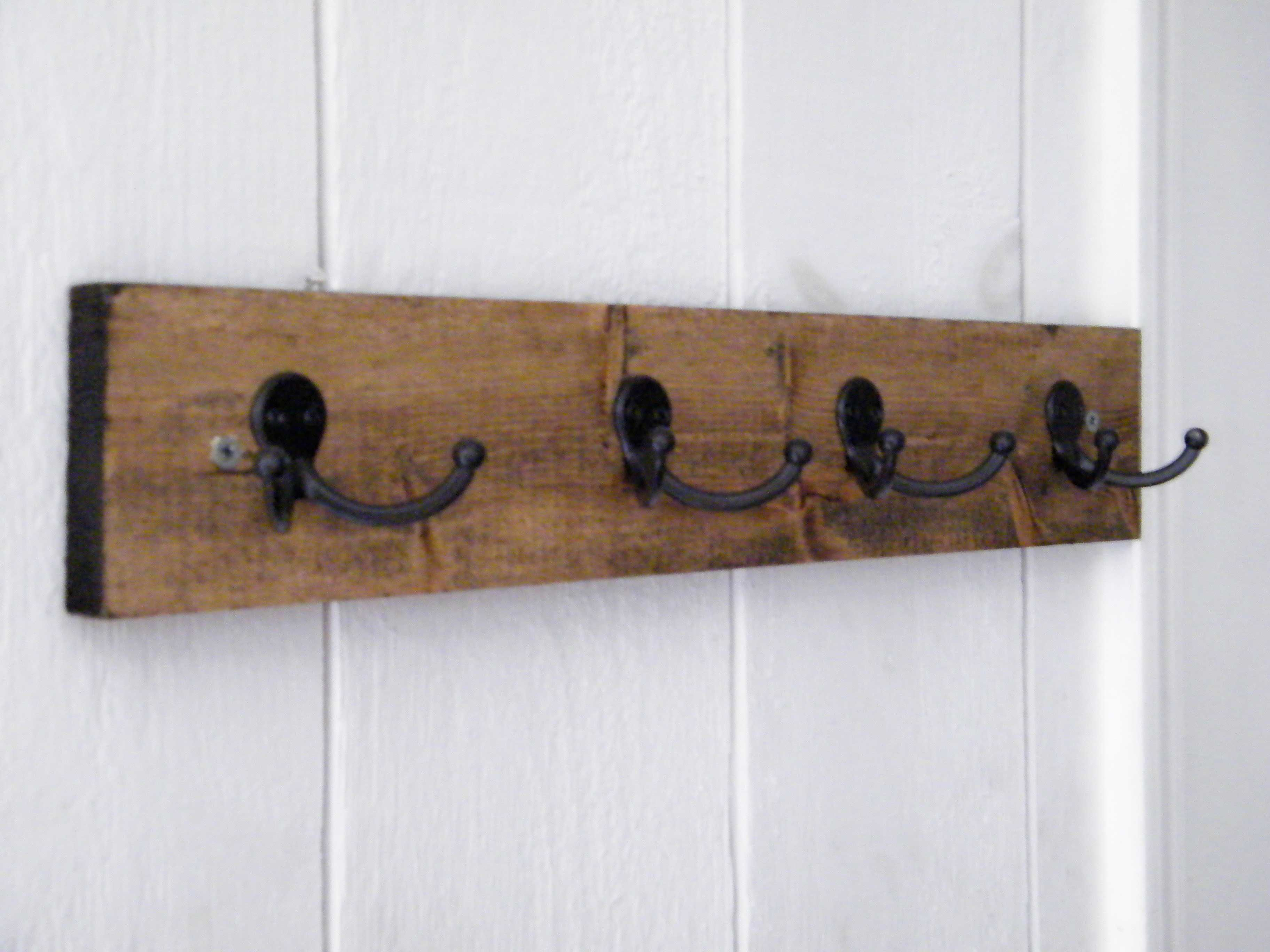 Pin By Blair Turner On For The Home Diy Coat Rack Wooden Coat Rack Creative Wall Hooks