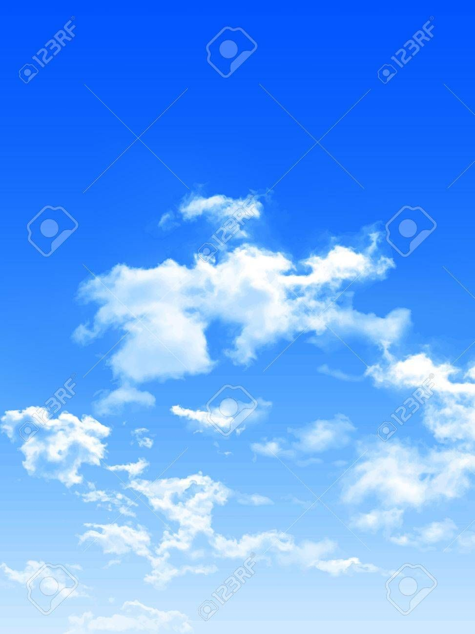 Sky clouds landscape background Illustration , #Ad, #clouds, #Sky, #landscape, #Illustration, #background