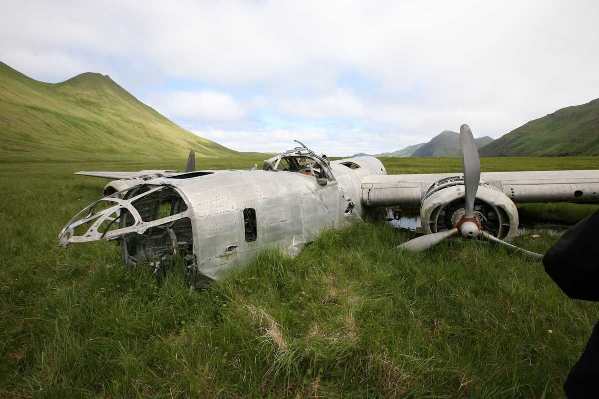The Atka B24D Liberator bomber, located at its crash site