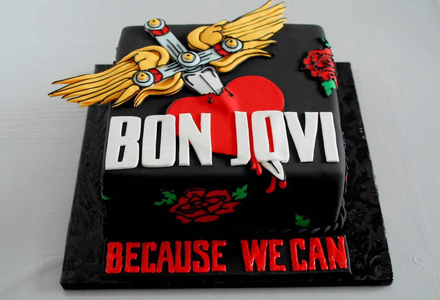 Cake made for Bon jovi< High Tea Bakery   Art for my walls ...