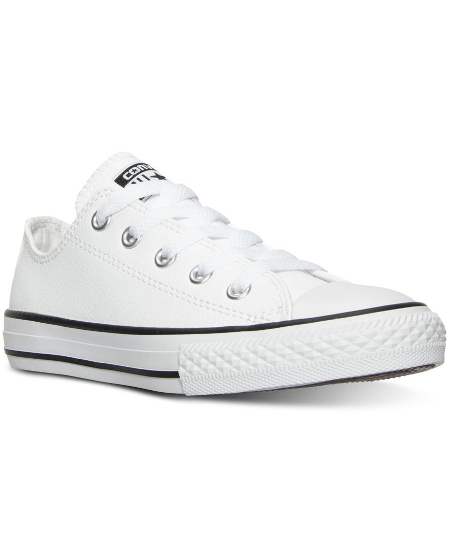 73d67063b73d Converse Boys  Chuck Taylor All Star Ox Leather Casual Sneakers from Finish  Line