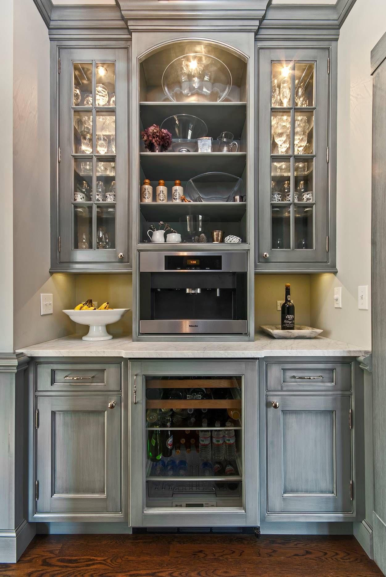 PB Kitchen Design coffee and beverage station.   Coffee ...