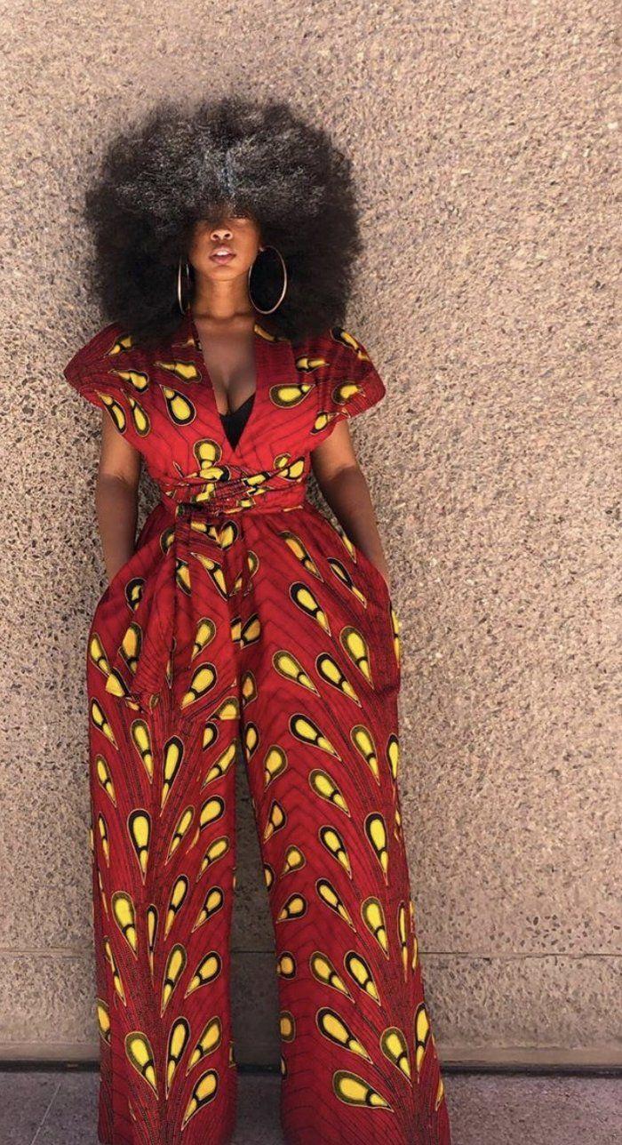 ELOHOR African print infinity jumpsuit