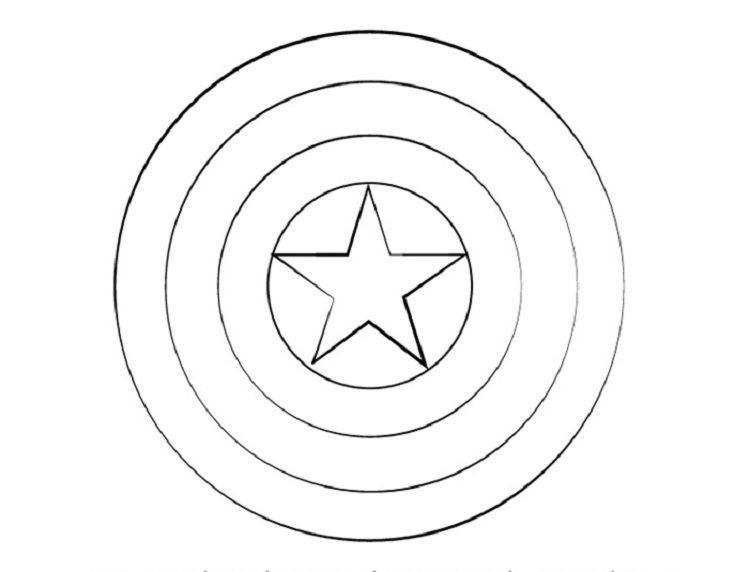 Captain America Shield Coloring Pages Coloring Pages Captain America Shield Captain America