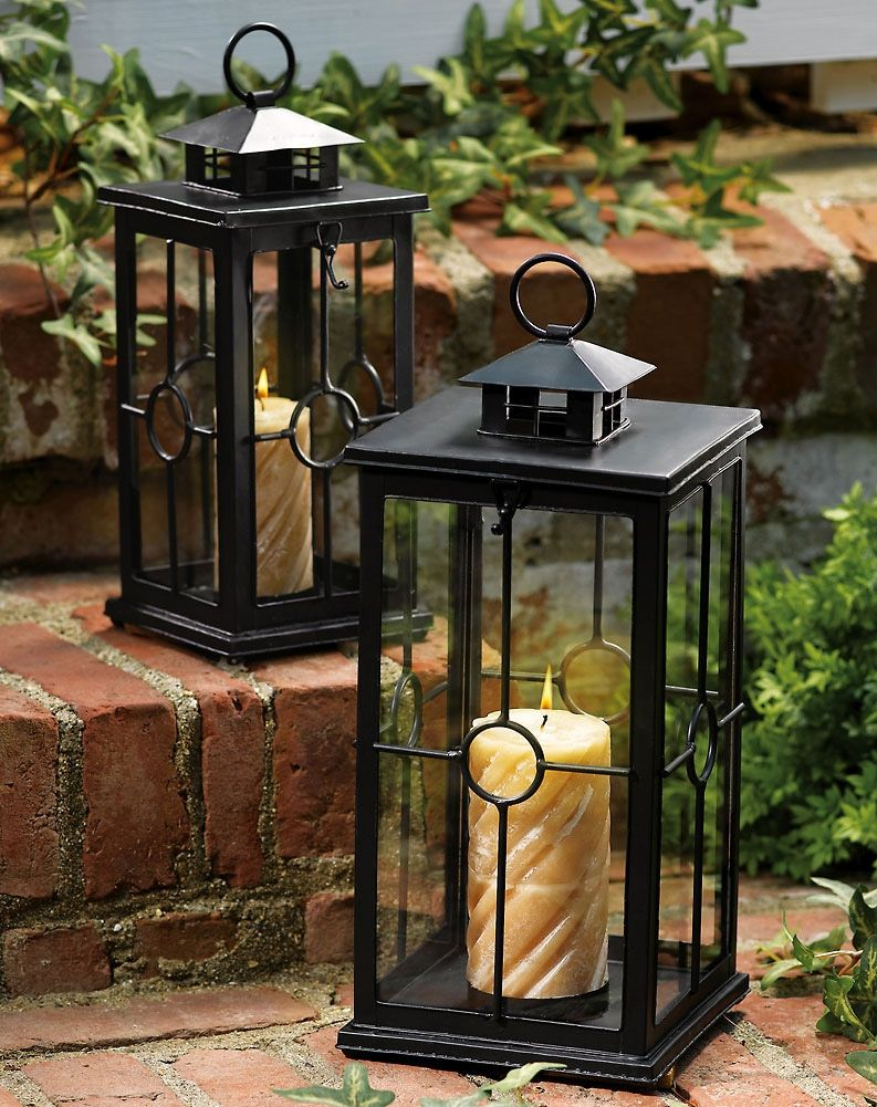 outdoor candles lanterns and lighting. Garden Candles | Set Of 2 Candle Lanterns Outdoor And Lighting N