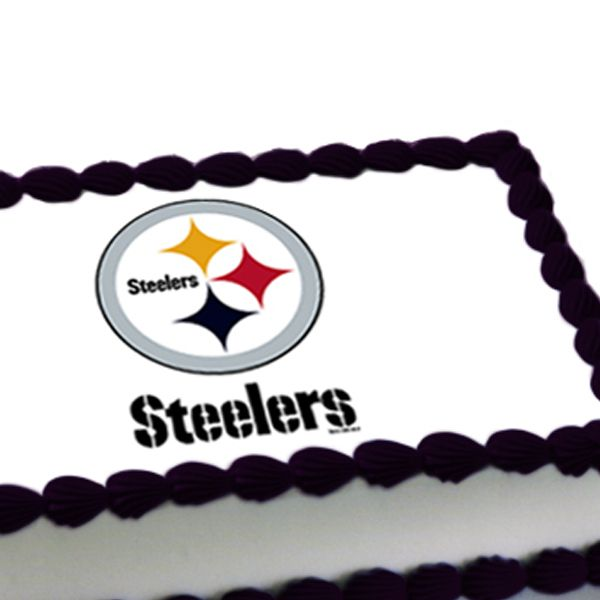 NFL Pittsburgh Steelers Edible Image Cake Decoration this is Mikes