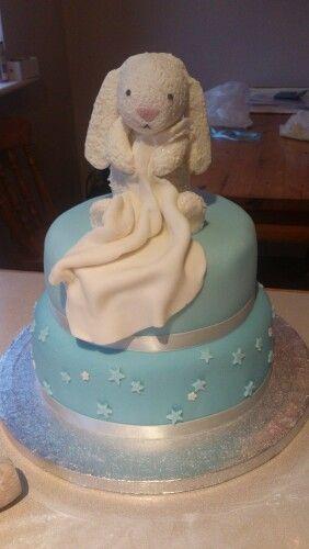 Jellycat Bertie bunny first birthday cake for my nephew Baby