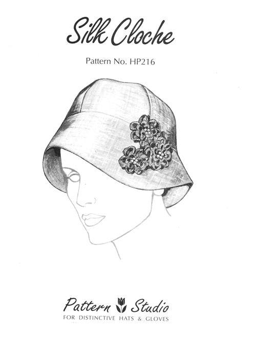 Pattern Studio HP216 Silk Cloche Hat Pattern | Hats | Pinterest
