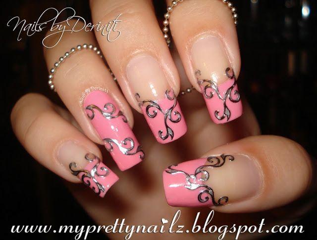 My Pretty Nailz Easy Elegant French Tips Nail Art Design Video