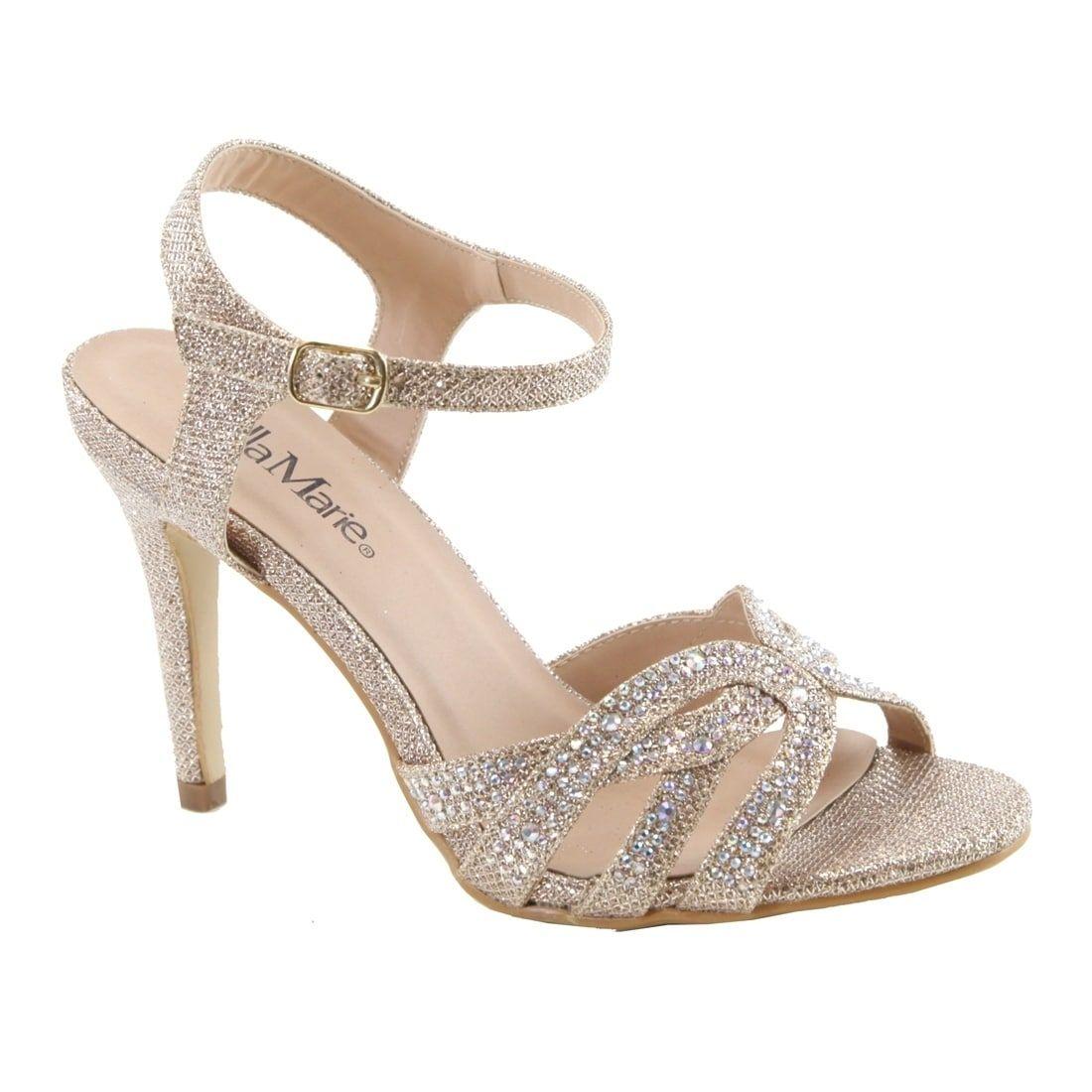 8f2b88e247f Bella Marie Women s Rhinestone Strappy Wrapped Stiletto Heel Sandals ...