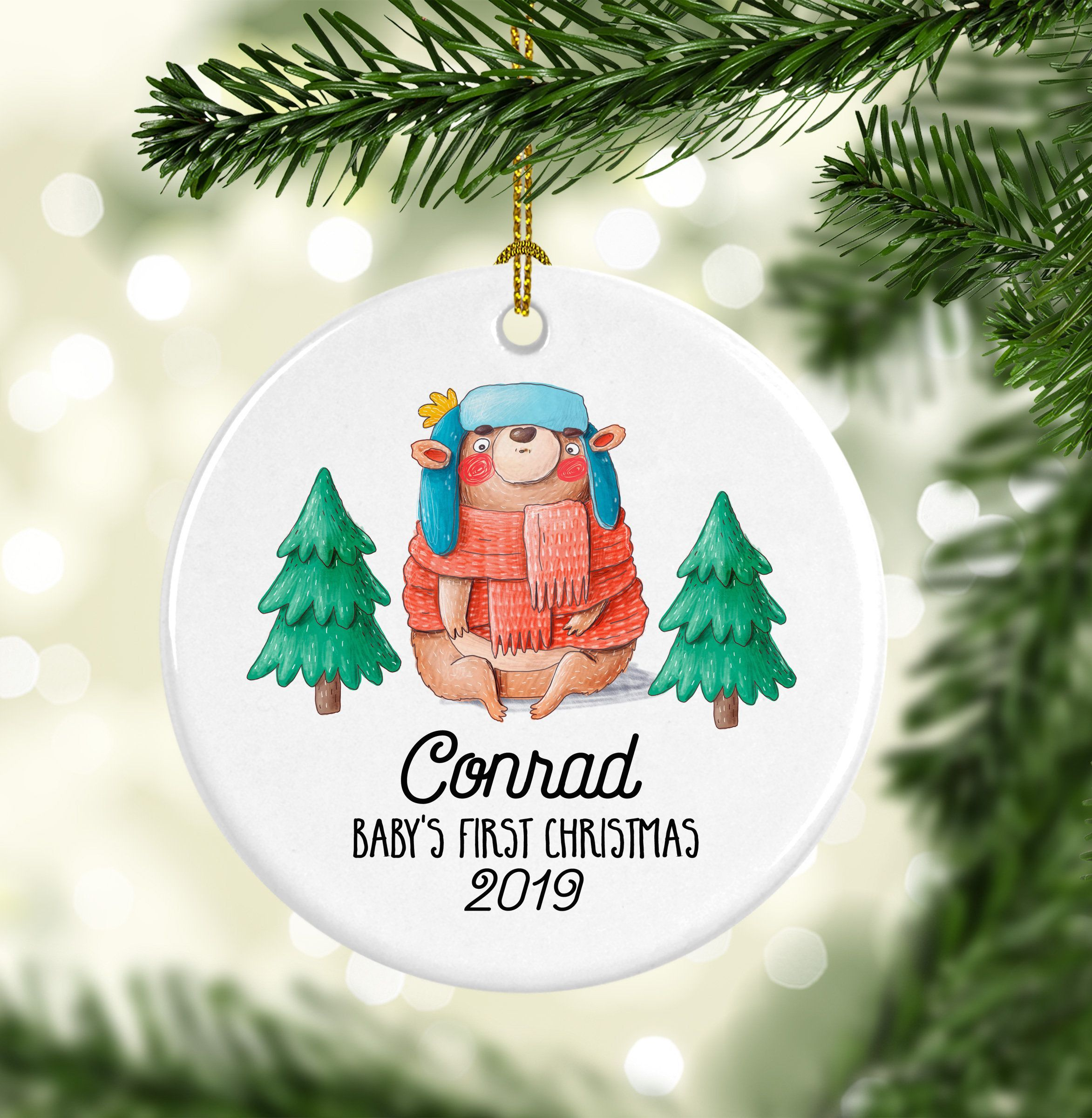 Baby Boy Gift Baby Ornament Personalized Christmas Babies First Christmas Baby/'s 1st Christmas Baby/'s First Christmas Ornament