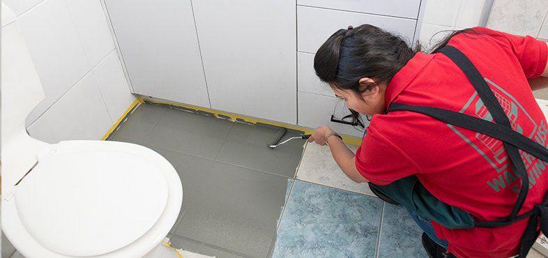 How To Paint Floor Tiles Bunnings Warehouse In 2020 Painting Tile Floors Painted Floors Dulux Tile Paint