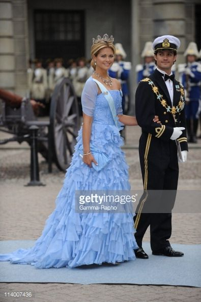 Wedding of H.R.H. Crown Princess Victoria of Sweden and Daniel Westling In Stockholm, Sweden On June 19, 2010-Prince Carl Philip and princess Madeleine of Sweden.
