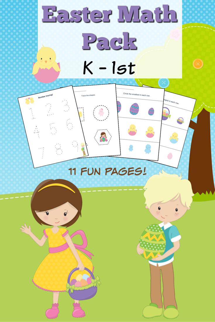 Easter Themed Kindergarten Math Worksheets – Grade 1 Math Worksheets Free