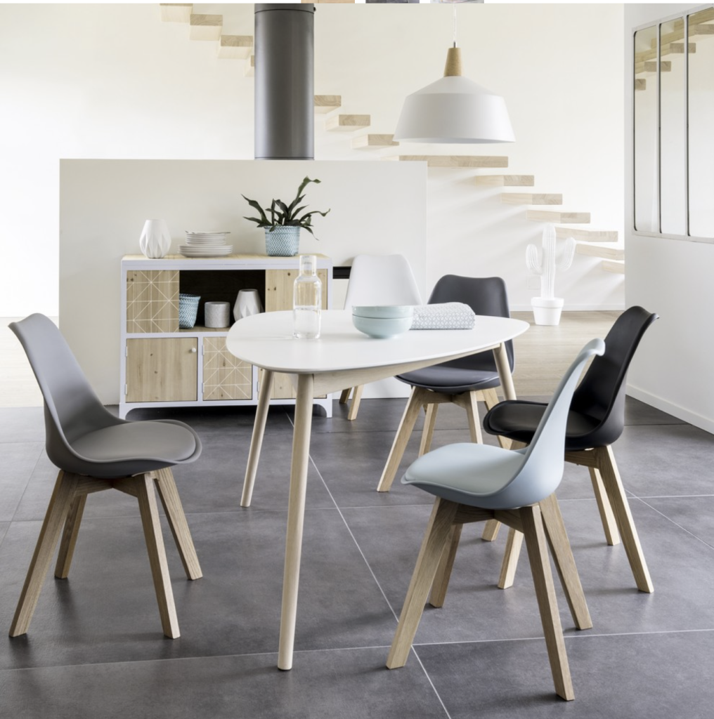 10 Tables Ni Rondes Ni Rectangulaires Chaise Style Scandinave Chaise Salle A Manger Table De Salle A Manger Blanche