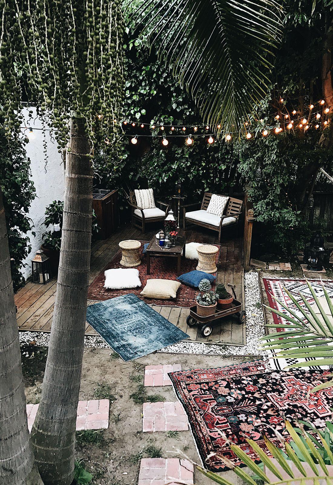 Moroccan party decor bohemian poufs rugs pillows moroccan decor