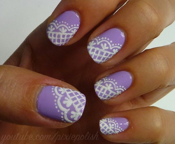 lacey lilac nails