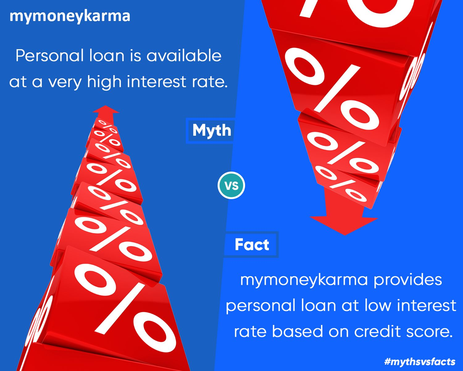 Don T Dwell On The Myths Around Personal Loan Mythsvsfacts Personalloan Mymoneykarma Personal Loans Balance Transfer Credit Cards Loan