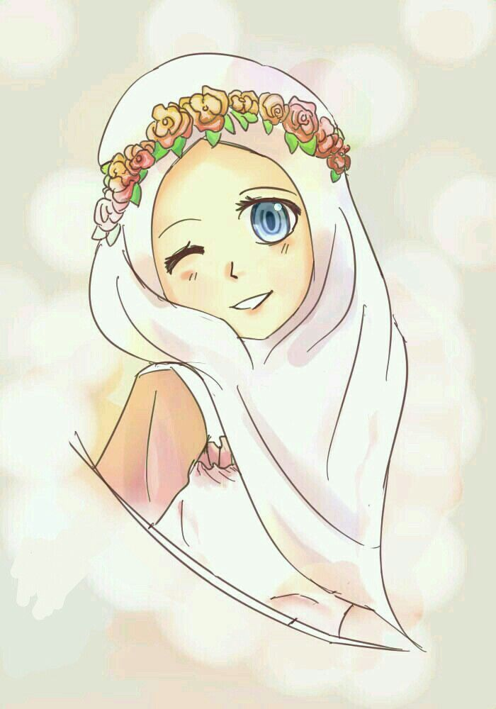 Hijab Cartoon Anime Muslimah Muslim Women Styles Art Sketches Girl Drawings Illustration Ramadan