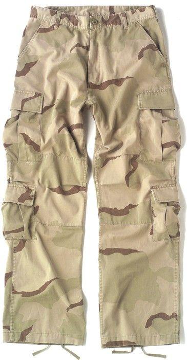 Tri-Color Desert Camouflage Vintage Military Paratrooper BDU Pants ... 9016ba193d5