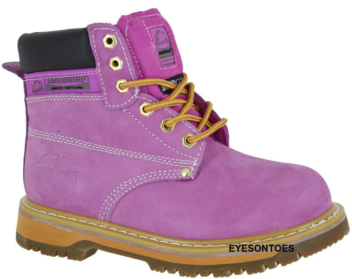 Purple Steel Toe Work Boots in 2020