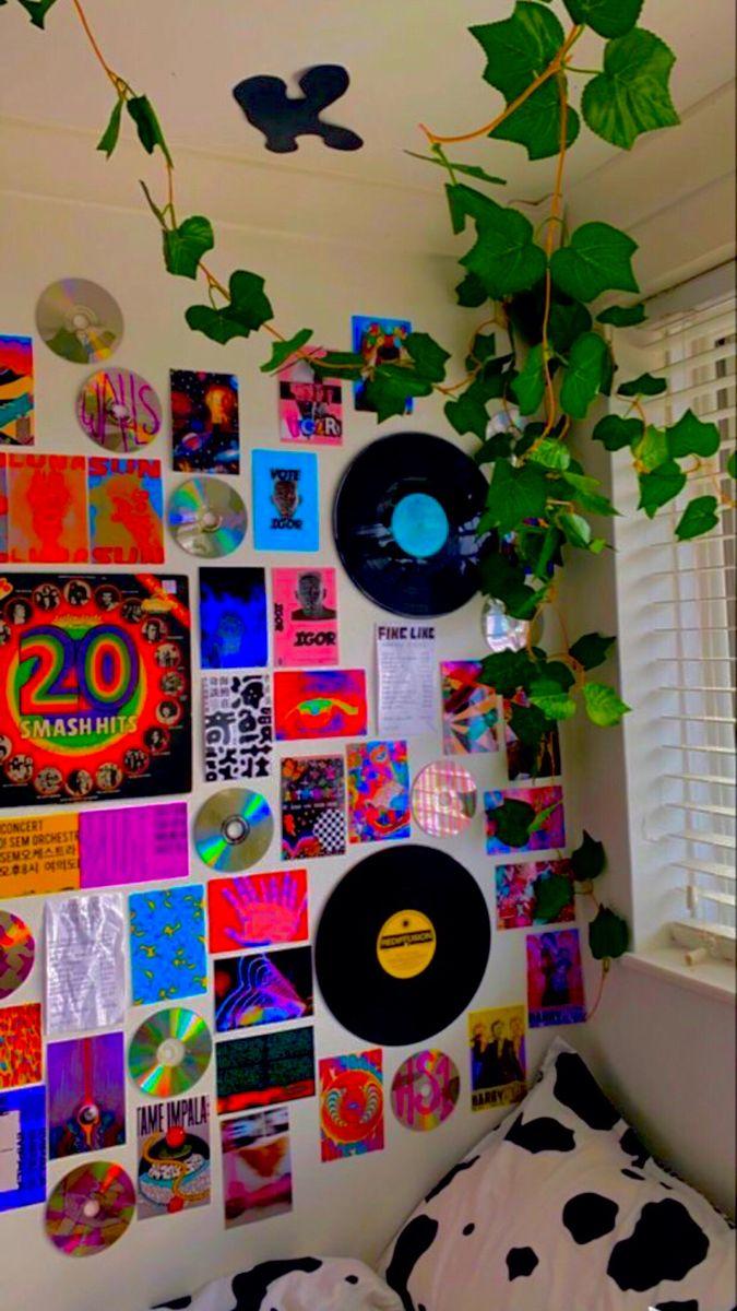 indie vinyl wall ??? in 2020 | Indie room decor, Indie ... on Room Decor Indie id=38340