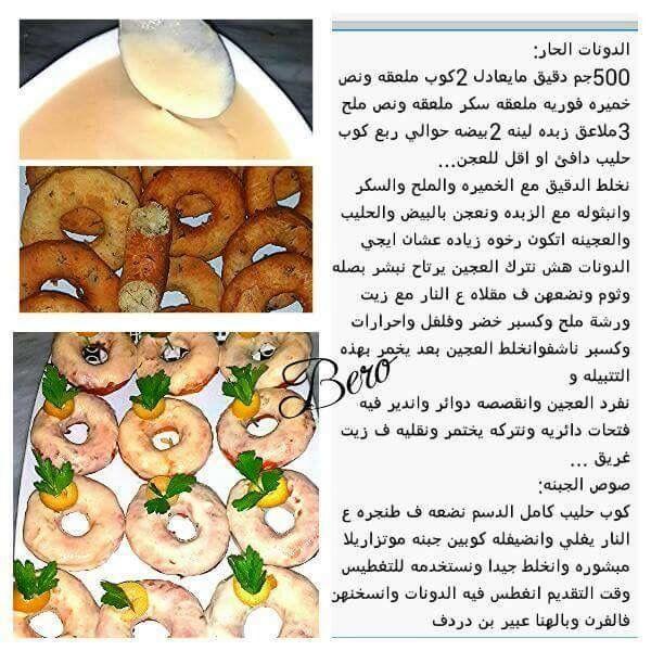 الدونات الحار الطعم يمي يمي Arabic Food Food Chef