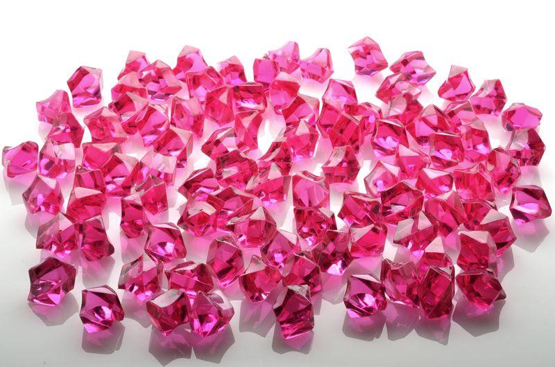 Black Colored Gemstones Acrylic Crystal Wedding Table Confetti 3//4 lb Bag
