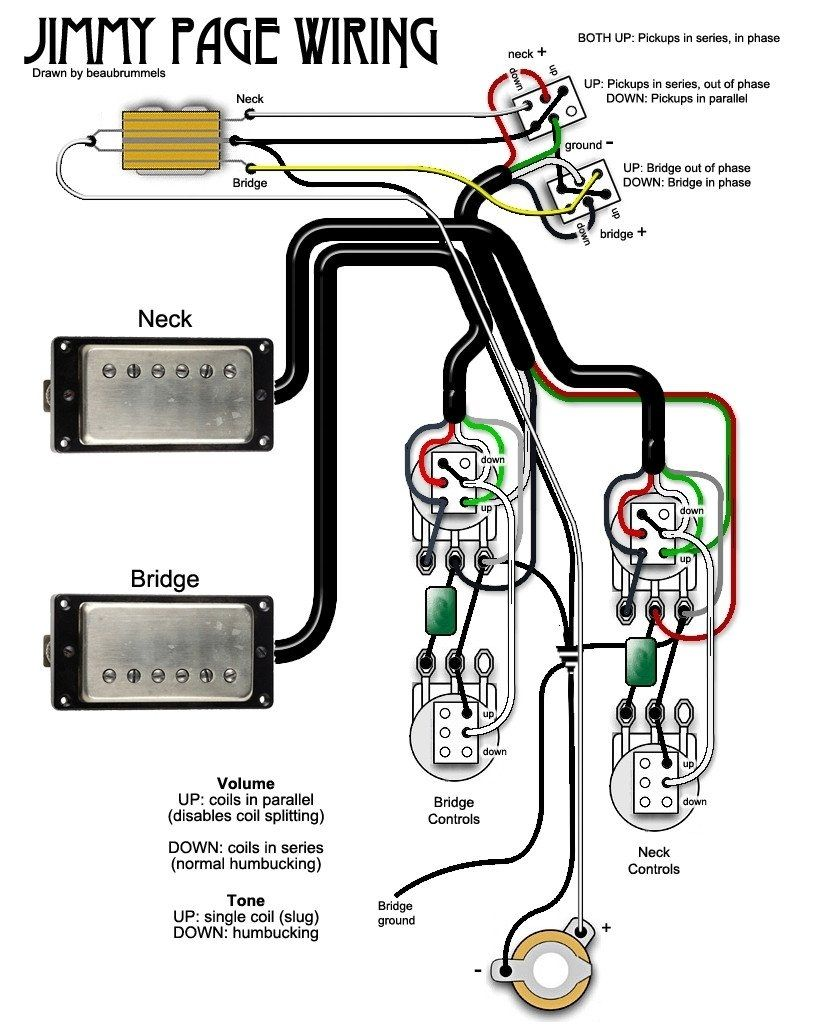 920D Jimmy Page Wiring Diagram Tamahuproject Org In On Jimmy Page in Jimmy Page  Wiring Diagram | Lutherie, Guitare electrique, GuitarePinterest
