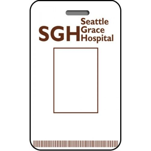 Seattle grace hospital id card custom from the identity for Hospital id badge template