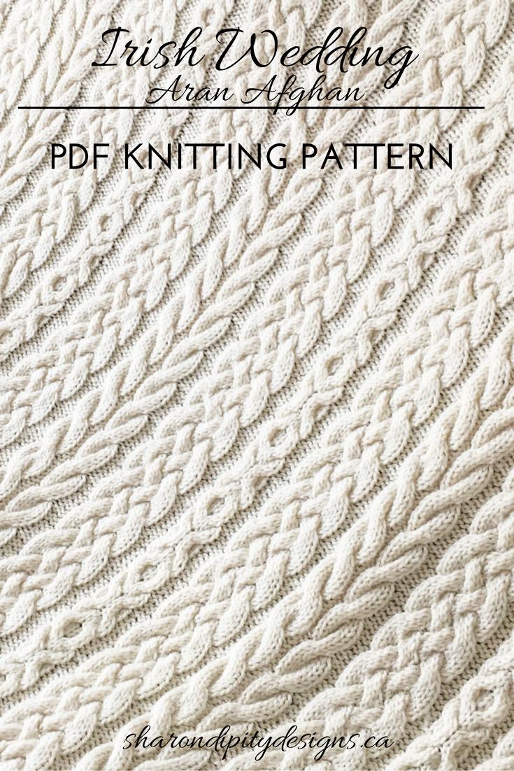 Knitting pattern for the irish wedding aran afghan by sharondipity knitting pattern for the irish wedding aran afghan by sharondipity designs bankloansurffo Choice Image