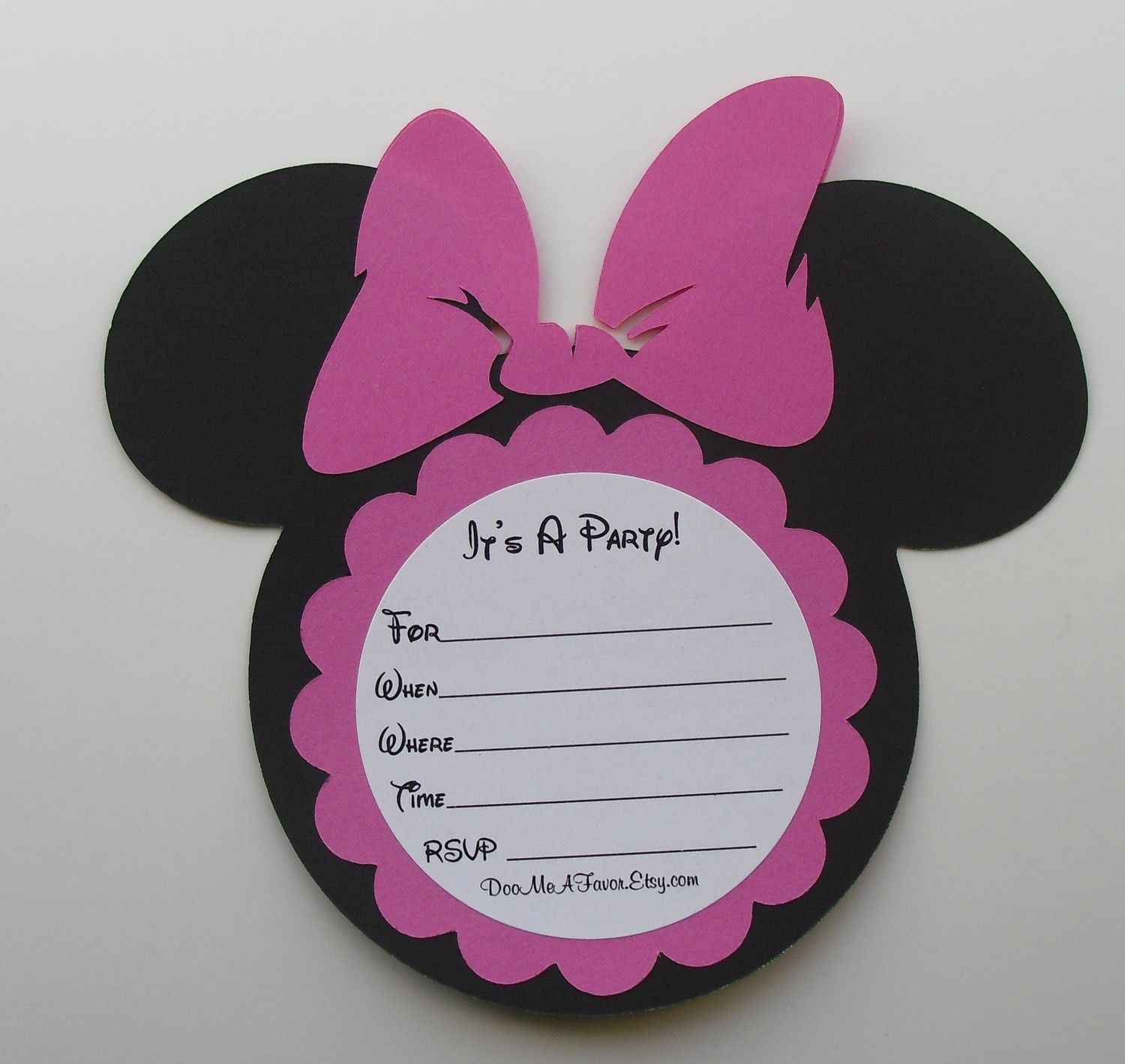 diy minnie mouse invitations Minnie Mouse Invitation DIY Kit Do it