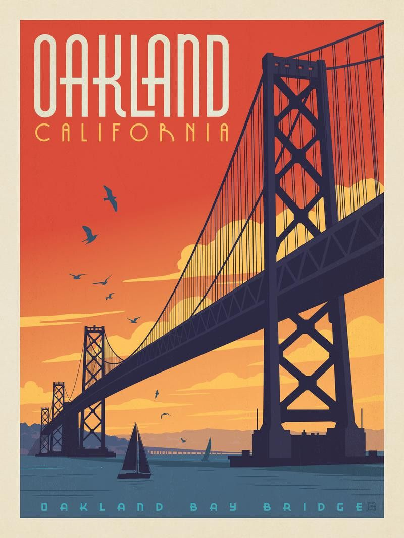 VintageTravel Poster-Reproduction San Francisco Bridge