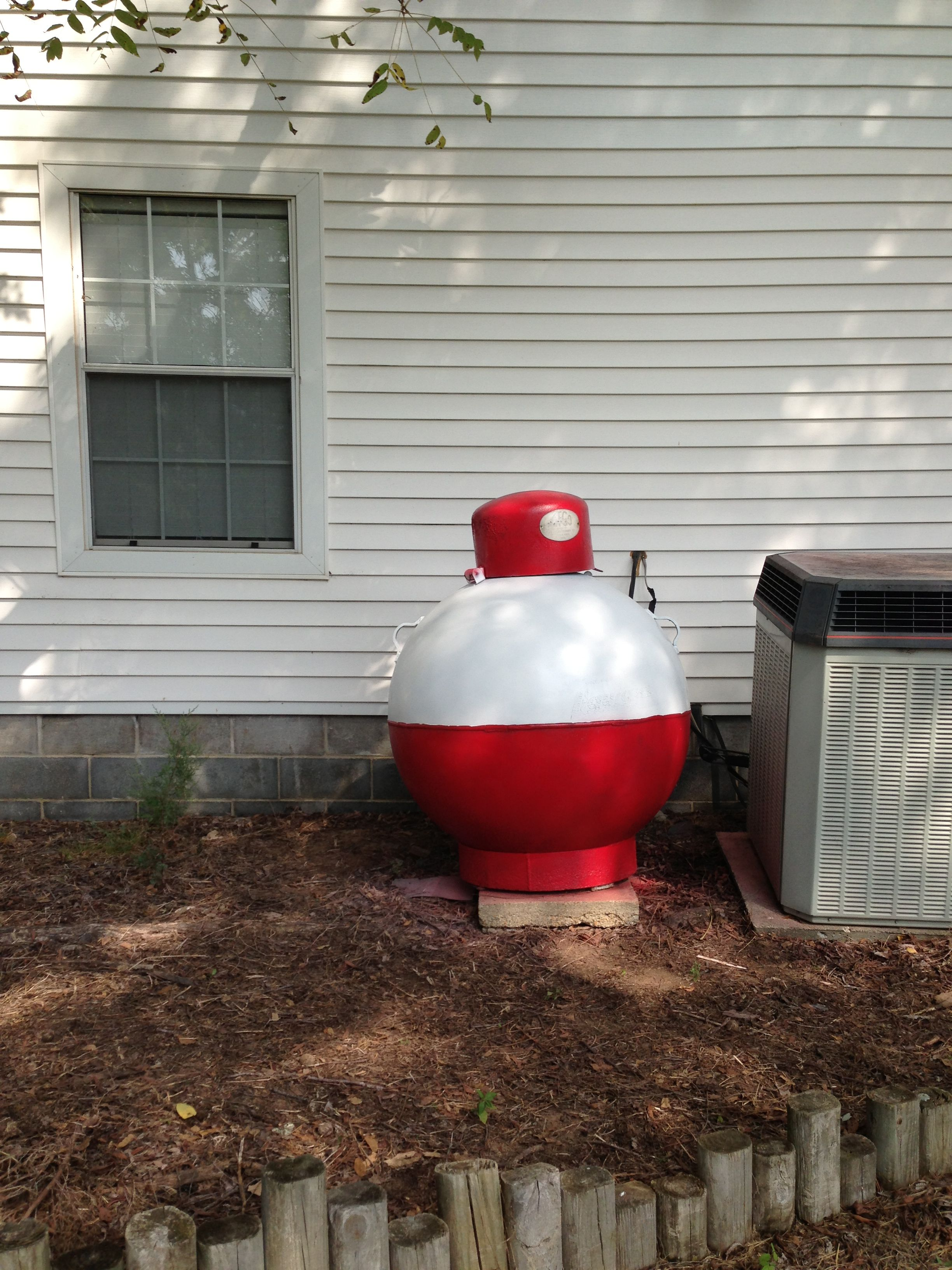 Finished Product Propane Tank Painted To Look Like A