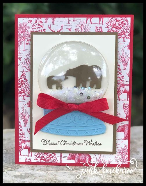 Pink Buckaroo Designs Christmas Cards Shaker Cards Stampin Up