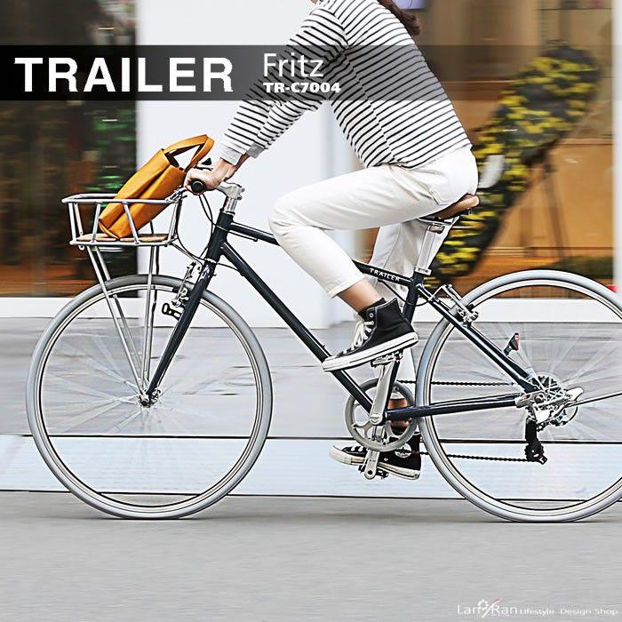 ウッドとアルミの前かごがポイントtrailer Tr C7004 自転車 自転車 ママチャリ 自転車 おしゃれ