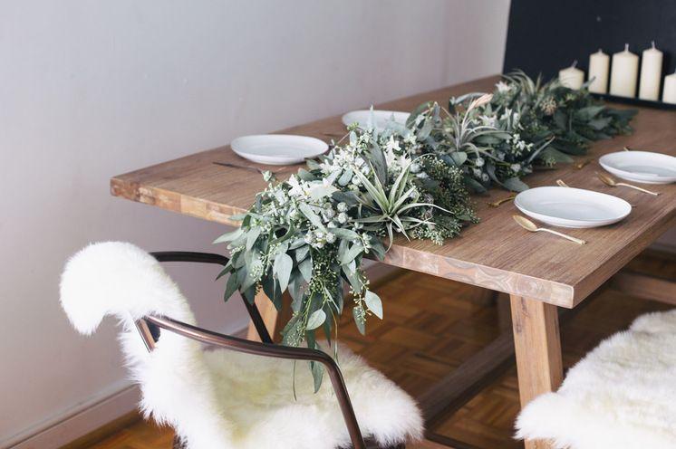 Fresh eucalyptus centerpiece