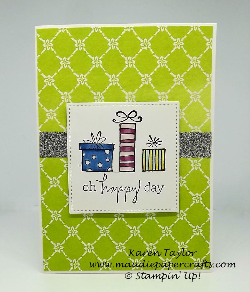 Stampinu up happiest of days birthday card card ideas pinterest