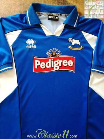 7a5ba8499c1 Official Errea Derby County away football shirt from the 2003 04 season.
