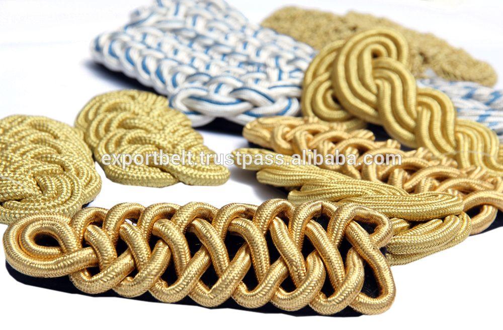 Naval Epaulettes with Black Wool /& Gold Bullion Fringe